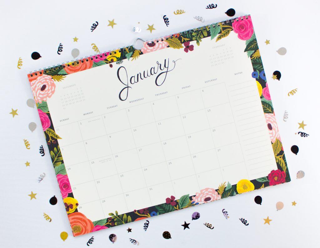 Rifle Paper Calendar - January